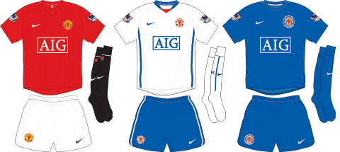 Man United Kits 2008-2009