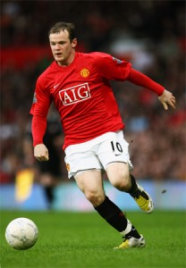 Rooney scored the first goal