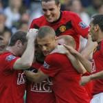 United celebrate goal