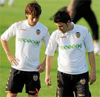 David Villa and Silva